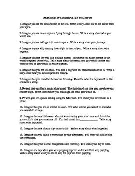 30 Imaginative Writing Prompts