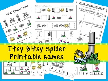 30 Itsy Bitsy Spider Games Download. Games and Activities in PDF files.