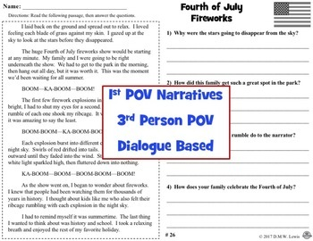 30 Summer Reading Comprehension Passages: July & July Reading Comprehension