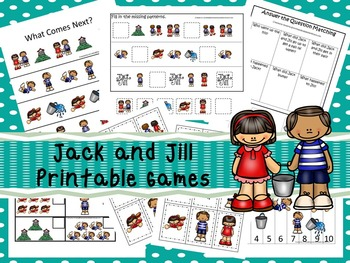 30 Jack and Jill Games Download. Games and Activities in PDF files.
