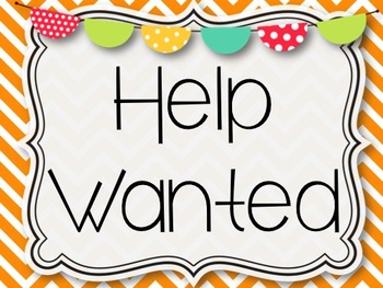 30 Classroom Job Cards & Help Wanted Signs {2 Styles!}
