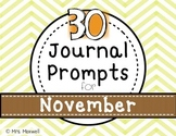 30 Journal Prompts for November {Daily Writing}