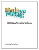 30+ Kids Affirmation Bingo