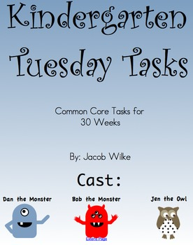 30 Kindergarten Common Core Tasks PDF
