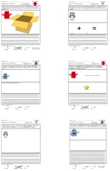 30 Kindergarten Common Core Tasks Smart NOTEBOOK