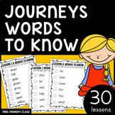 1st GRADE  JOURNEYS WORDS TO KNOW HOMEWORK/PRACTICE