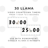30 LLAMA Video Countdown Timers - For PowerPoint, Google S