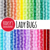 30 Lady Bug / Ladybug / Lady Beetle Backgrounds / Digital Paper Clip Art Set
