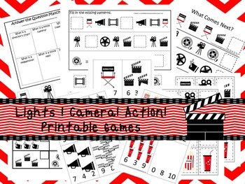 30 Lights Camera Action! Games Download. Games and Activities in PDF files.