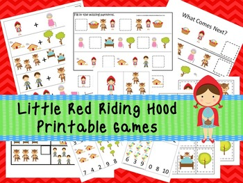 30 Little Red Riding Hood Games Download. Games and Activities in PDF files.