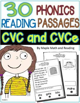 30 (Long and Short Vowel CVC and CVCe) Passages