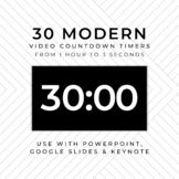 30 MODERN (B) Video Countdown Timers - For PowerPoint, Goo