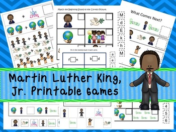30 Martin Luther King Jr. Games Download. Games and Activities in PDF files.