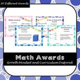 30 Math Growth Mindset Awards