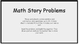 30 Math Story Problems - Addition & Subtraction to 20