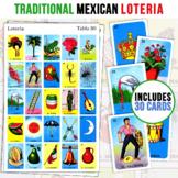 30 Mexican Loteria Game Cards   5X5 Spanish Bingo   Kid Friendly