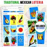 30 Mexican Loteria Game Cards   Kid Friendly   3X3 Spanish Bingo