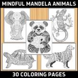 30 Mindful Mandela Animal Coloring Pages