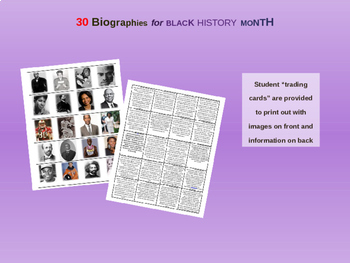 30 Mini-Bios for Black History Month (text, video links, printables, and more)