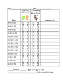 30 Minute Behavior Chart 2 behaviors