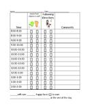 30 Minute Behavior Chart 2 behaviors