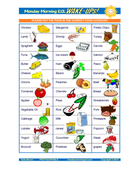 30 minute esl lessons foods food groups by english and esl maven 30 minute esl lessons foods food groups forumfinder Gallery