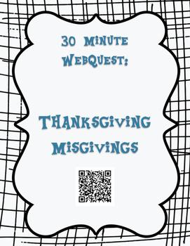 30 Minute Thanksgiving WebQuest