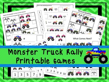 30 Monster Truck Games Download. Games and Activities in PDF files.