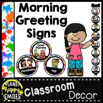 30+ Morning Greeting Choices Art Theme Paint Splatter