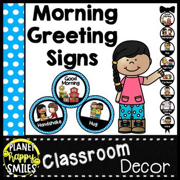 30+ Morning Greeting Choices Blue Polka Dot