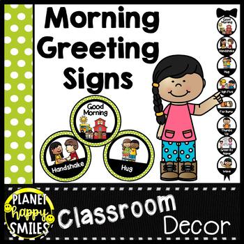 30+ Morning Greeting Choices Green Polka Dot