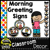 30+ Morning Greeting Choices Multi-Colored Polka Dot Theme