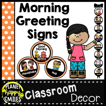 30+ Morning Greeting Choices Orange Polka Dot