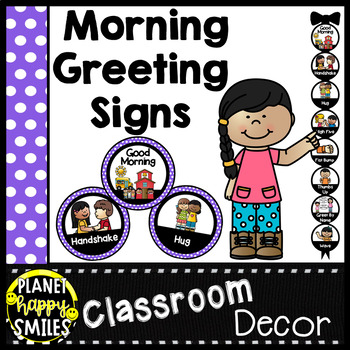 30+ Morning Greeting Choices Purple Polka Dot