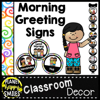 30+ Morning Greeting Choices Rainbow Spiral Theme