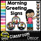30+ Morning Greeting Choices Watercolor Bright Stripes Theme