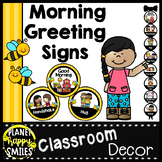 30+ Morning Greeting Choices or Saying Good-Bye Signs Bee Theme