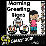 30+ Morning Greeting Choices or Saying Good-Bye Signs Plain Black