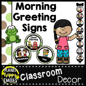 30+ Morning Greeting or Saying Good-Bye Signs Frogs