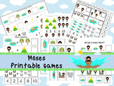 30 Moses themed Printable Games and Activities. Christian preschool curriculum.