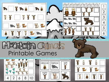 30 Mountain Animals Games Download. Games and Activities in a ZIP file.