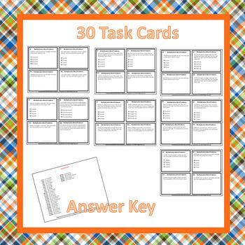 30 Multiplication Task Cards