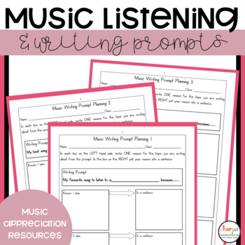 30 Music Listening and Writing Worksheets