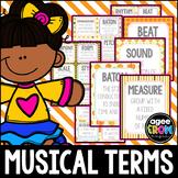 30 Music Flashcards + 30 Wall Cards - Autumn Theme - Tempo