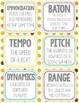 30 Music Flashcards + 30 Wall Cards - Autumn Theme - Tempo, Harmony, Rhythm