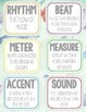 Under the Sea Flashcards, Wall Cards, Bulletin Board, Blue - Music Vocabulary