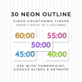 30 NEON OUTLINE Video Countdown Timers - For PowerPoint, G