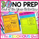 30 No Prep End of the Year Activities