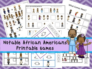 30 Notable African Americans Games Download. Games and Activities in PDF files.