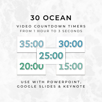 30 OCEAN Video Countdown Timers - For PowerPoint, Google Slides, Keynote